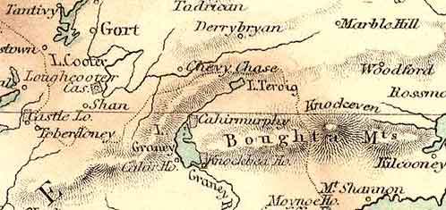 Detail from the Fullarton map of Ireland, 1872.